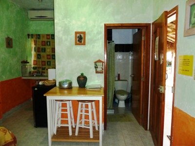 inside avocado room at amigos hostel