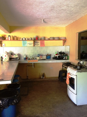 one side of kitchen