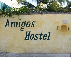 Amigos Hostel Cozumel outside wall