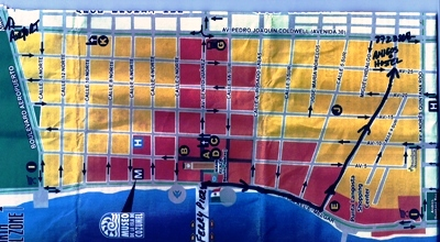 Cozumel Hostel amigos map